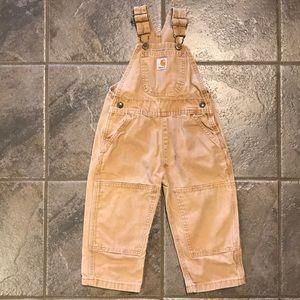 Toddler Carhartt Overalls Pants Brown 2T GUC